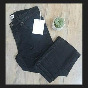 One teaspoon black distressed skinny jeans